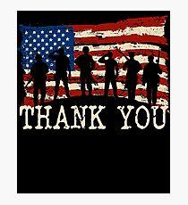 Lámina fotográfica Bandera americana gracias veteranos