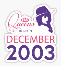 It's My Birthday 15. Made In December 2003. 2003 Gift Ideas. Sticker