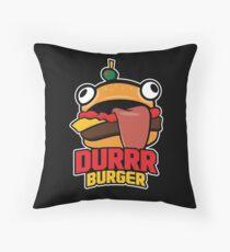 Durrr Burger Throw Pillow