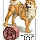 Chinese Zodiac Card - Year of the Dog by Stephanie Smith