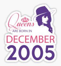 It's My Birthday 13. Made In December 2005. 2005 Gift Ideas. Sticker