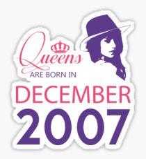 It's My Birthday 11. Made In December 2007. 2007 Gift Ideas. Sticker