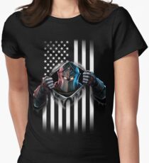Black Knight American Flag Women's Fitted T-Shirt