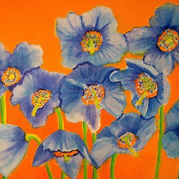 Himalayan Blue Poppies by LaHickmana