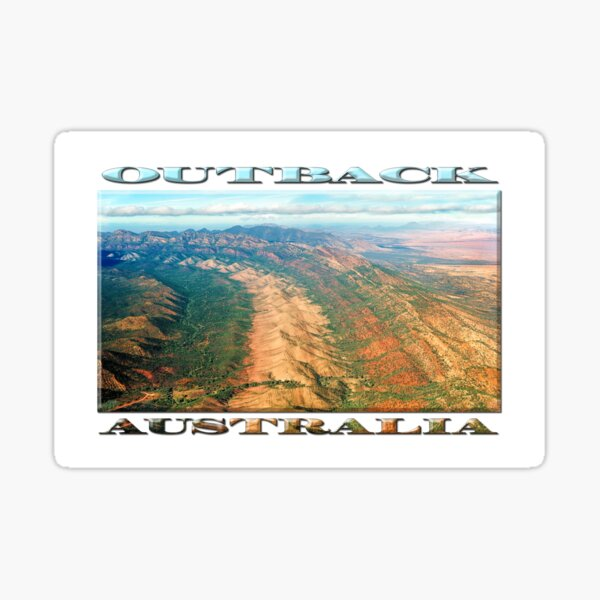 Outback Mountains (poster on white) Sticker