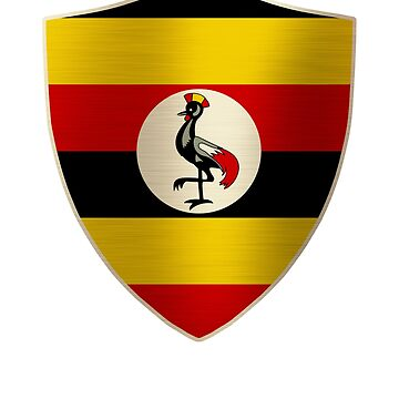 Uganda Flag Shield by ockshirts