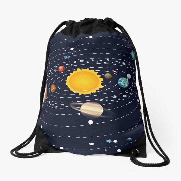 Planets of Solar System Drawstring Bag