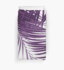 Palm Leaves Purple Vibes #1 #tropical #decor #art Duvet Cover