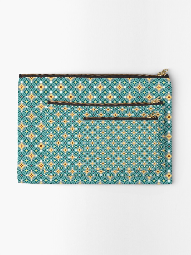 Alternate view of Little Twinks in Green and Yellow Zipper Pouch