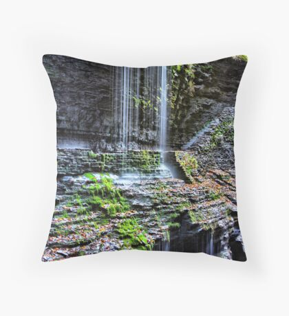 Watkins Glen Falls Throw Pillow