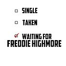 Waiting For Freddie Highmore by NessaElanesse