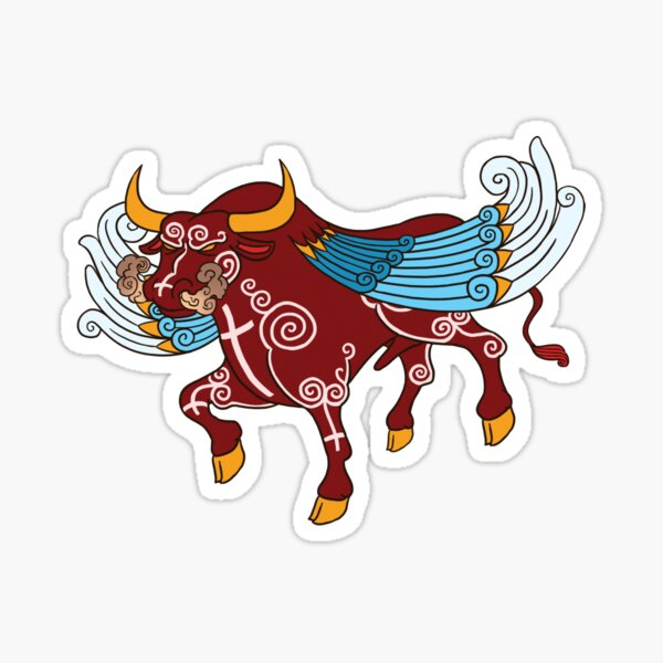 Storm Bull, The Chaos Killer by Kalin Kadiev Sticker