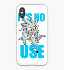 Silver The Hedgehog It's No Use iPhone Case