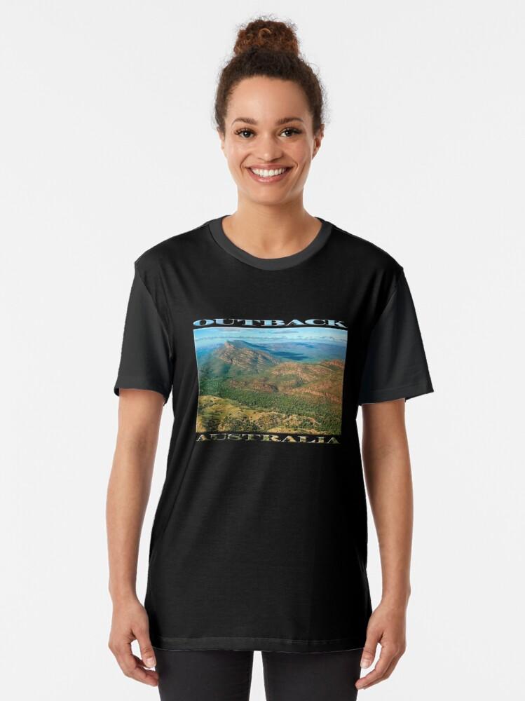 Alternate view of Rawnsley Bluff III (poster on black) Graphic T-Shirt