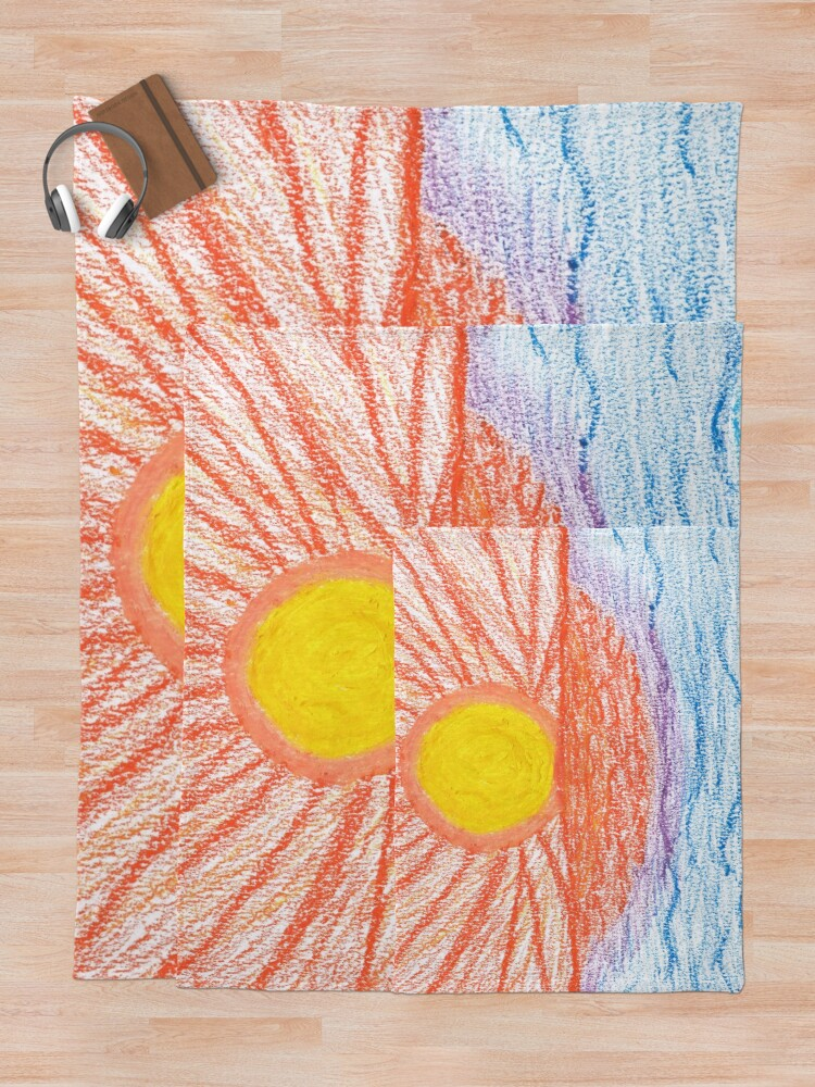 Alternate view of Merch #28 -- Sea Sunset Throw Blanket