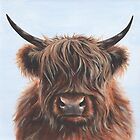Highland Cow - hairy beast! by lizblackdowding