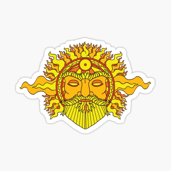 Yelm The Sun God by Kalin Kadiev Sticker