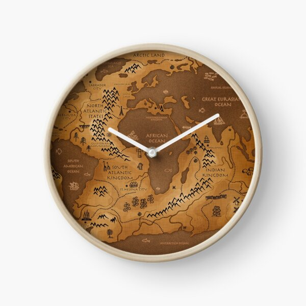 Planet Earth - Inversed Clock