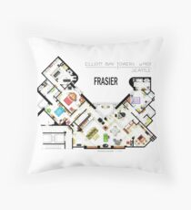 Frasier Apartment Floorplan Throw Pillow