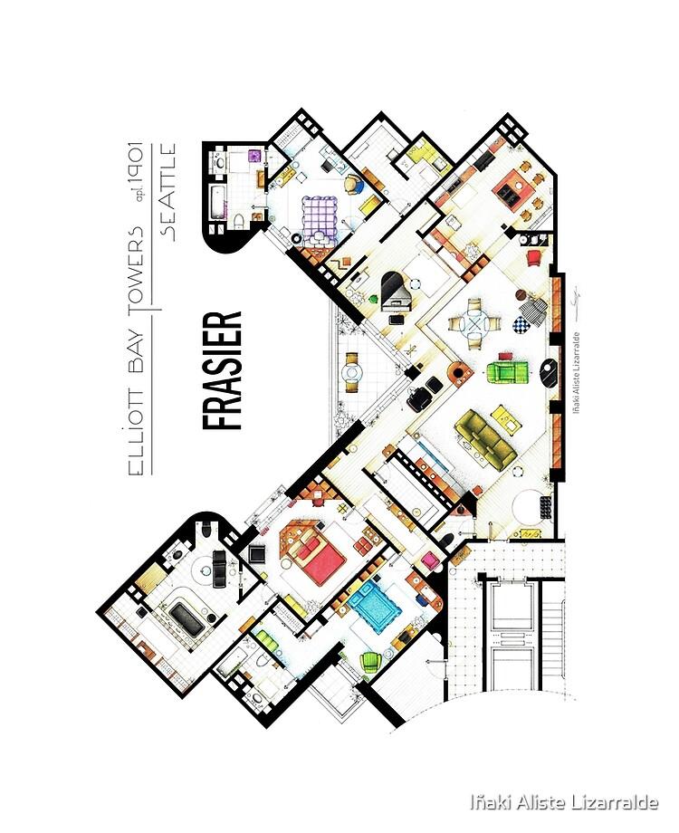 Frasier Apartment Floorplan Ipad Case Skin By Nikneuk Redbubble