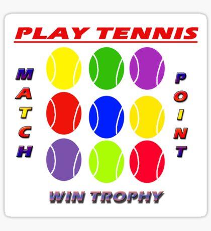 Play Tennis Sticker