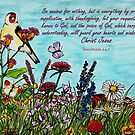 Flower Meadow - With Philippians 4:6,7 Bible Verses by EuniceWilkie