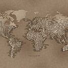 The World Map of Small Towns by vladstudio