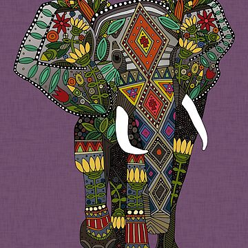 floral elephant violet by scrummy