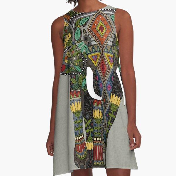floral elephant stone A-Line Dress