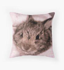 Wild Cottontail Bunny Throw Pillow