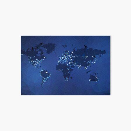 The World (Simplified, Night) Art Board Print