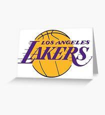 Los Angeles Lakers Basketball Grußkarte