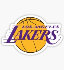 Pegatina Baloncesto Los Angeles Lakers