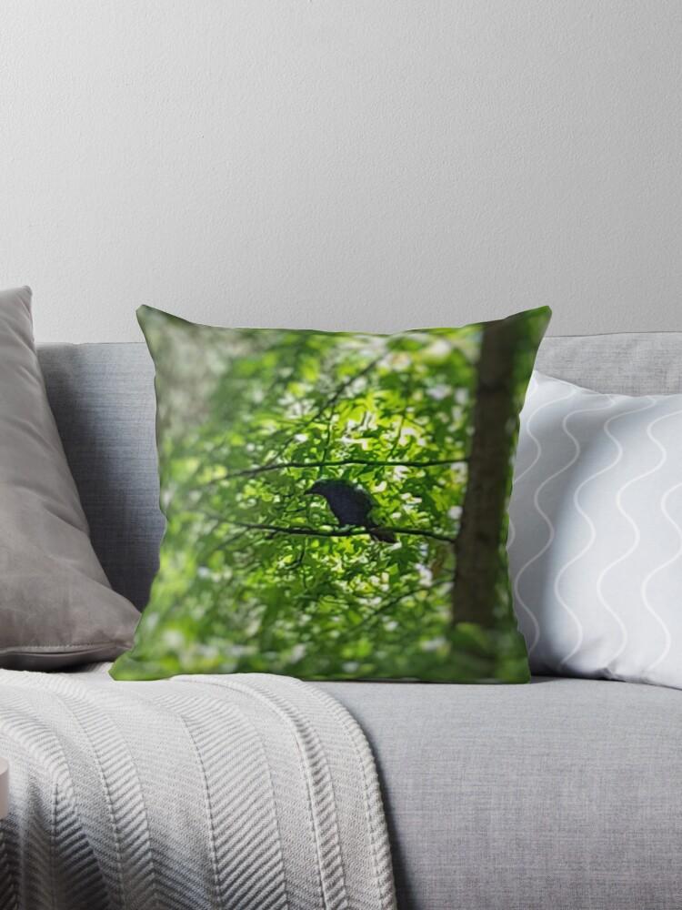 Black Bird Summer Green Tree 2 by ellenhenry