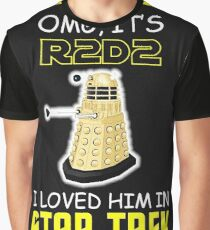 Sci-fi funny Mash Up Graphic T-Shirt