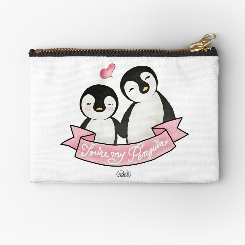 You are my Penguin - When Penguins are in Love Zipper Pouch