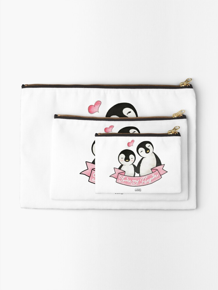 Alternate view of You are my Penguin - When Penguins are in Love Zipper Pouch