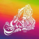 Henna Paisley Monogram A - LGBTQ Gay Pride Love by mydoodlesateme