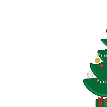 Decorated Christmas tree and Green and Red gifts by sigdesign