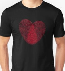 Fingerprint Heart Unisex T-Shirt