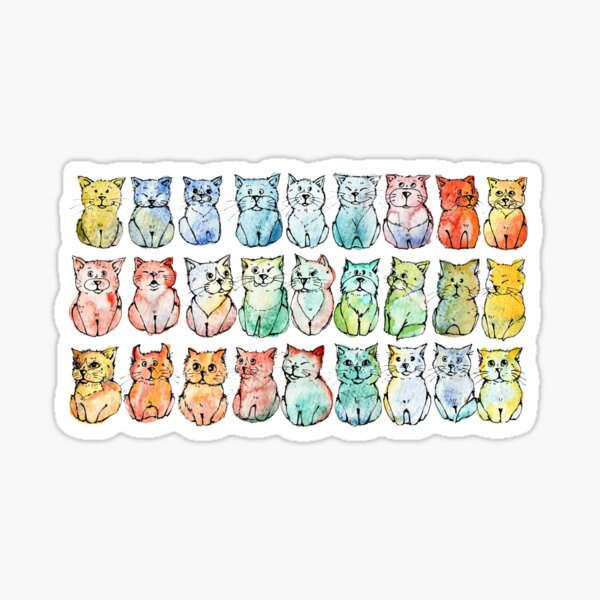 50 shades of cats  Sticker