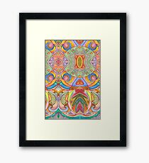 Seamless Watercolor Pattern by Lierre Kandel Framed Print