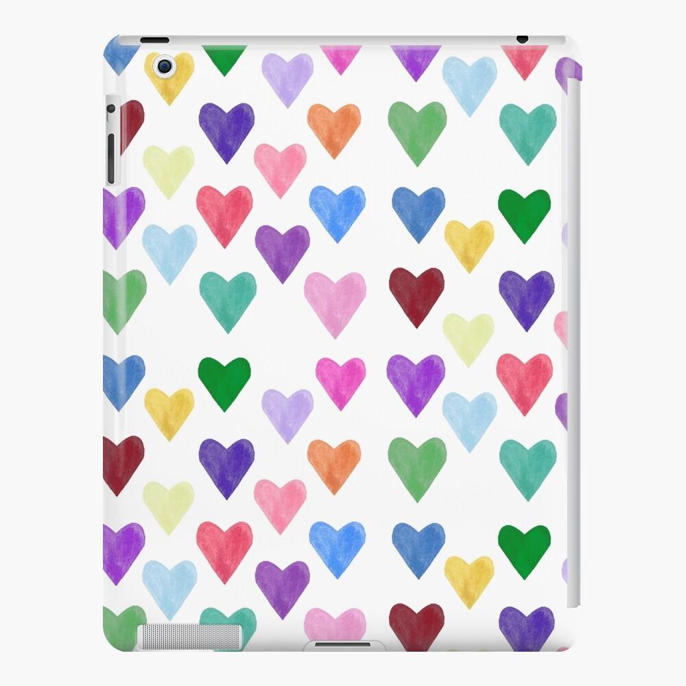 Watercolor Hearts Pattern iPad Case & Skin