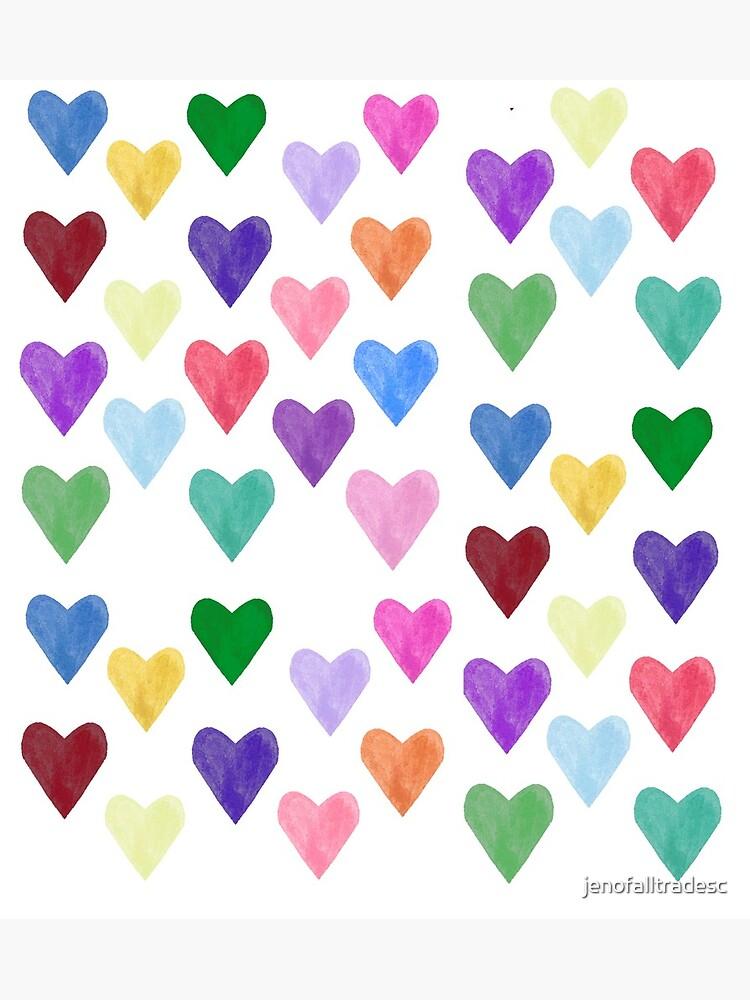 Watercolor Hearts Pattern by jenofalltradesc