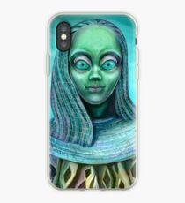 Alien girl iPhone Case