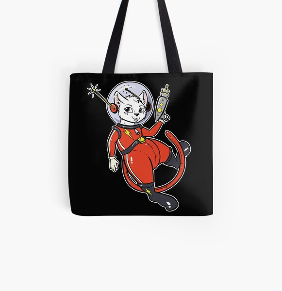 Space Kitty All Over Print Tote Bag