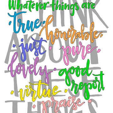 Think About These Things BBP Colorful by ToGodBeTheGlory