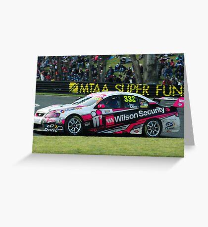 333- Wilson Security V8 supercar Greeting Card