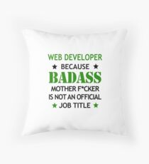 Web Developer Badass Funny Birthday Christmas Gift Throw Pillow
