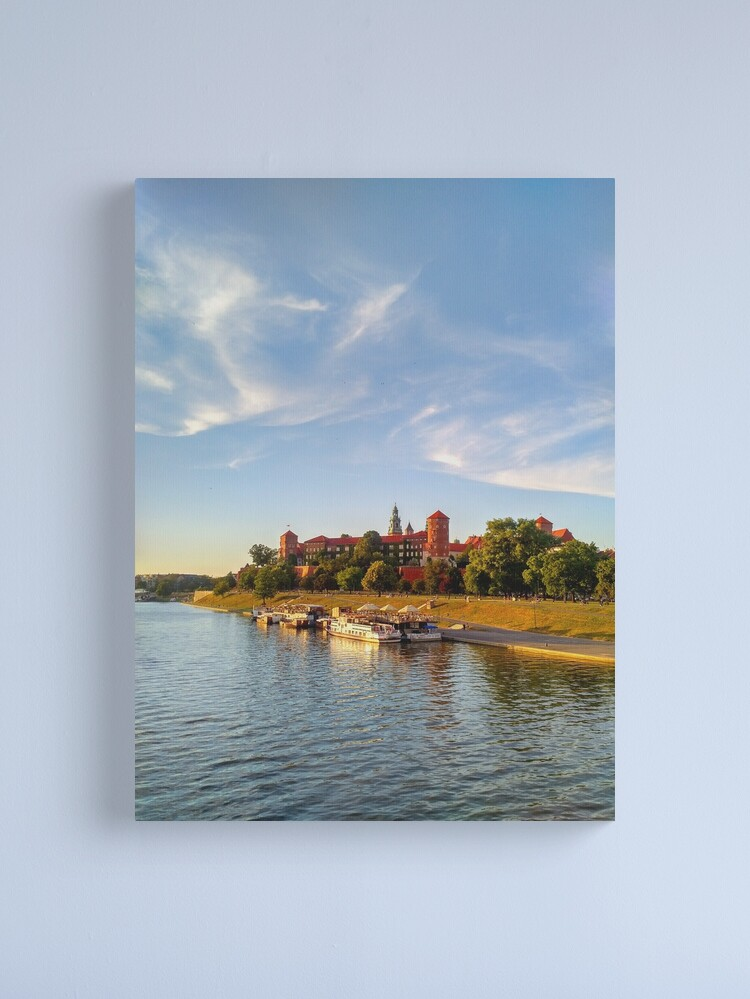 Alternate view of Magical  Wawel Castle in Krakow - view from the bridge  Canvas Print